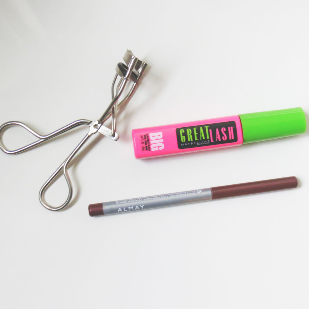 Maybelline Great Lash Mascara / Almay Intense i-Color Eyeliner / Eyelash Curler