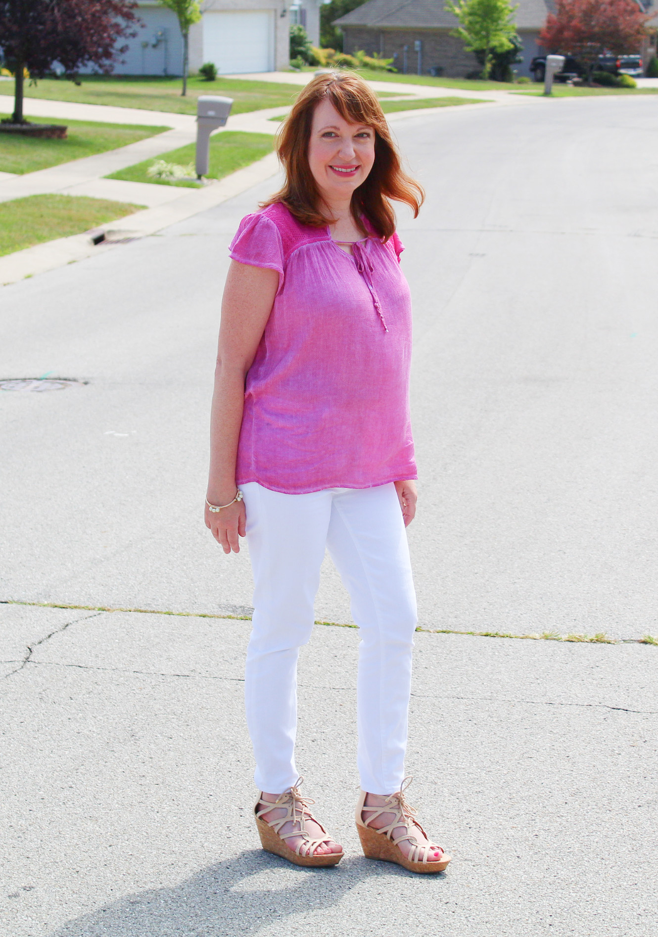 Pink Top With Jeans