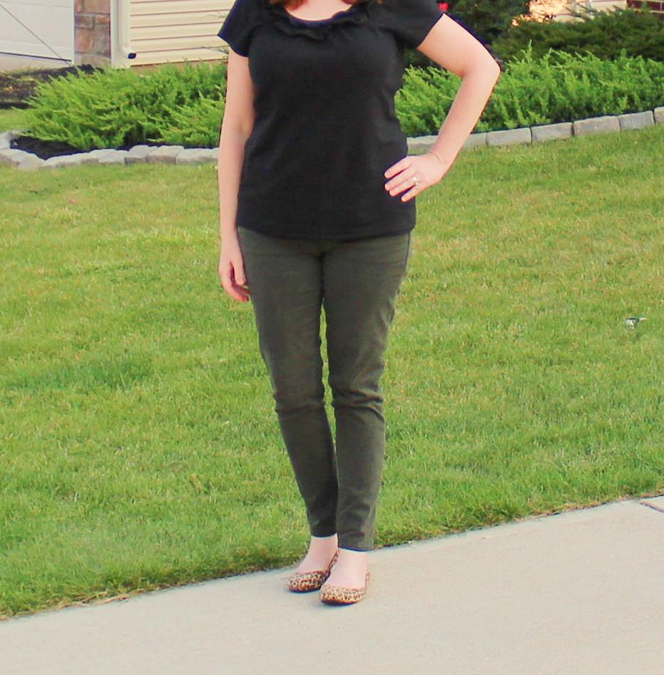 BlackTop/Spruce Green Jeans
