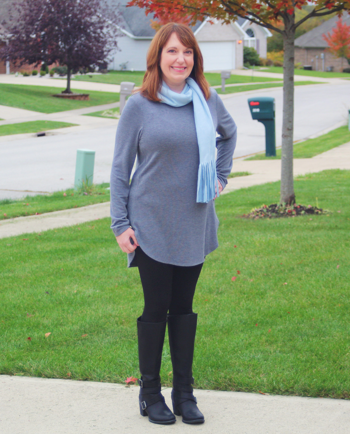 Gray Tunic Outfit