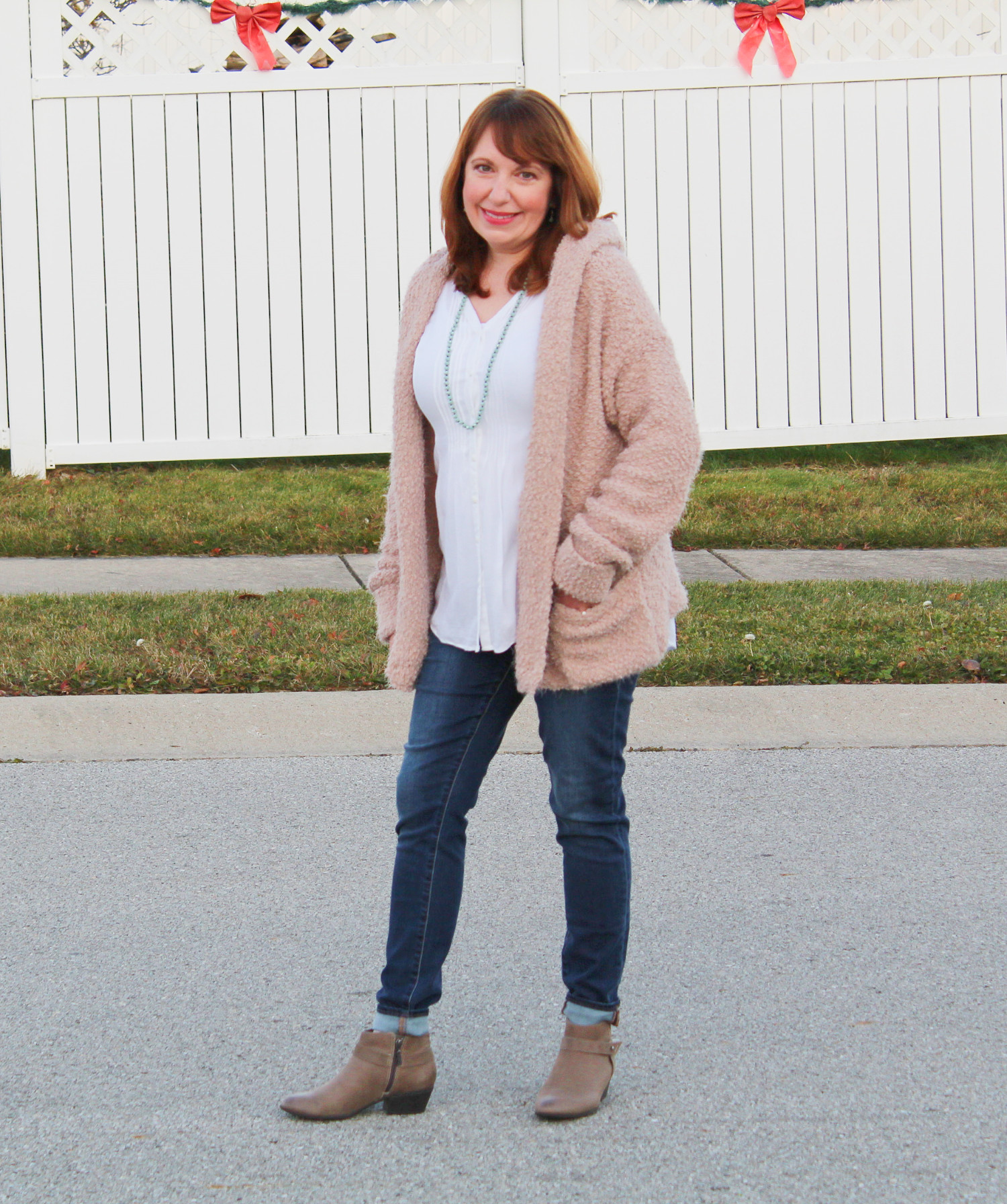 Hooded Cardigan And Articles Of Society Jeans