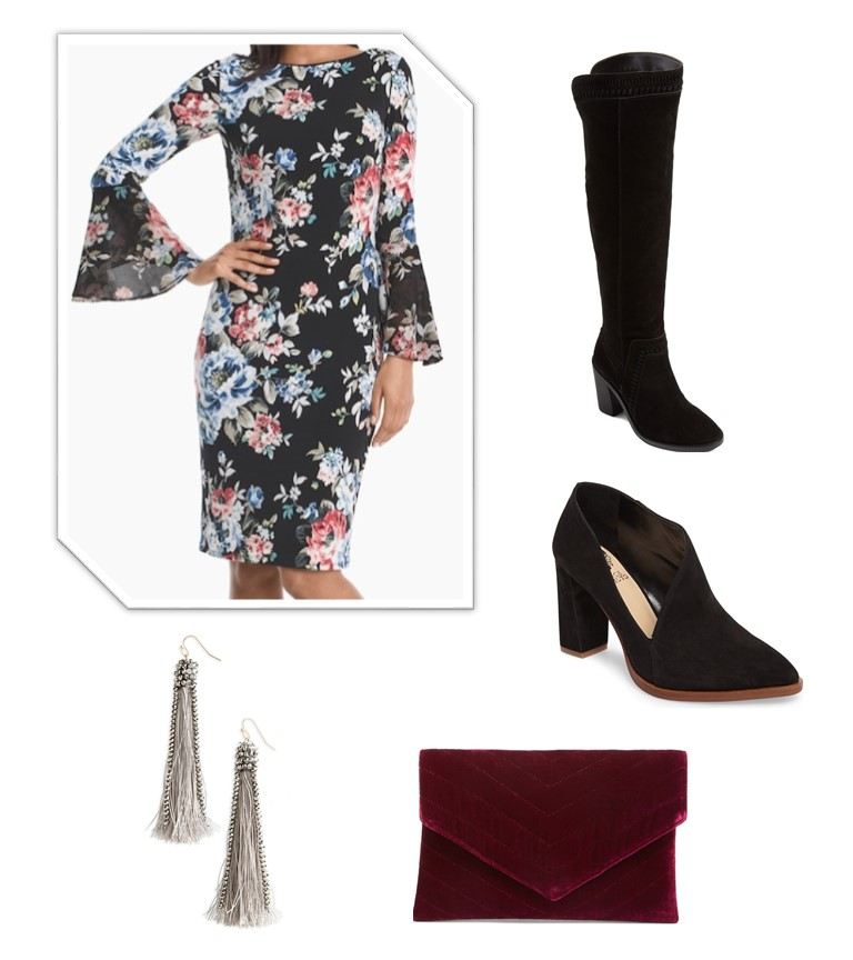 Dressy Valentine's Day Outfit/Date Night Outfit