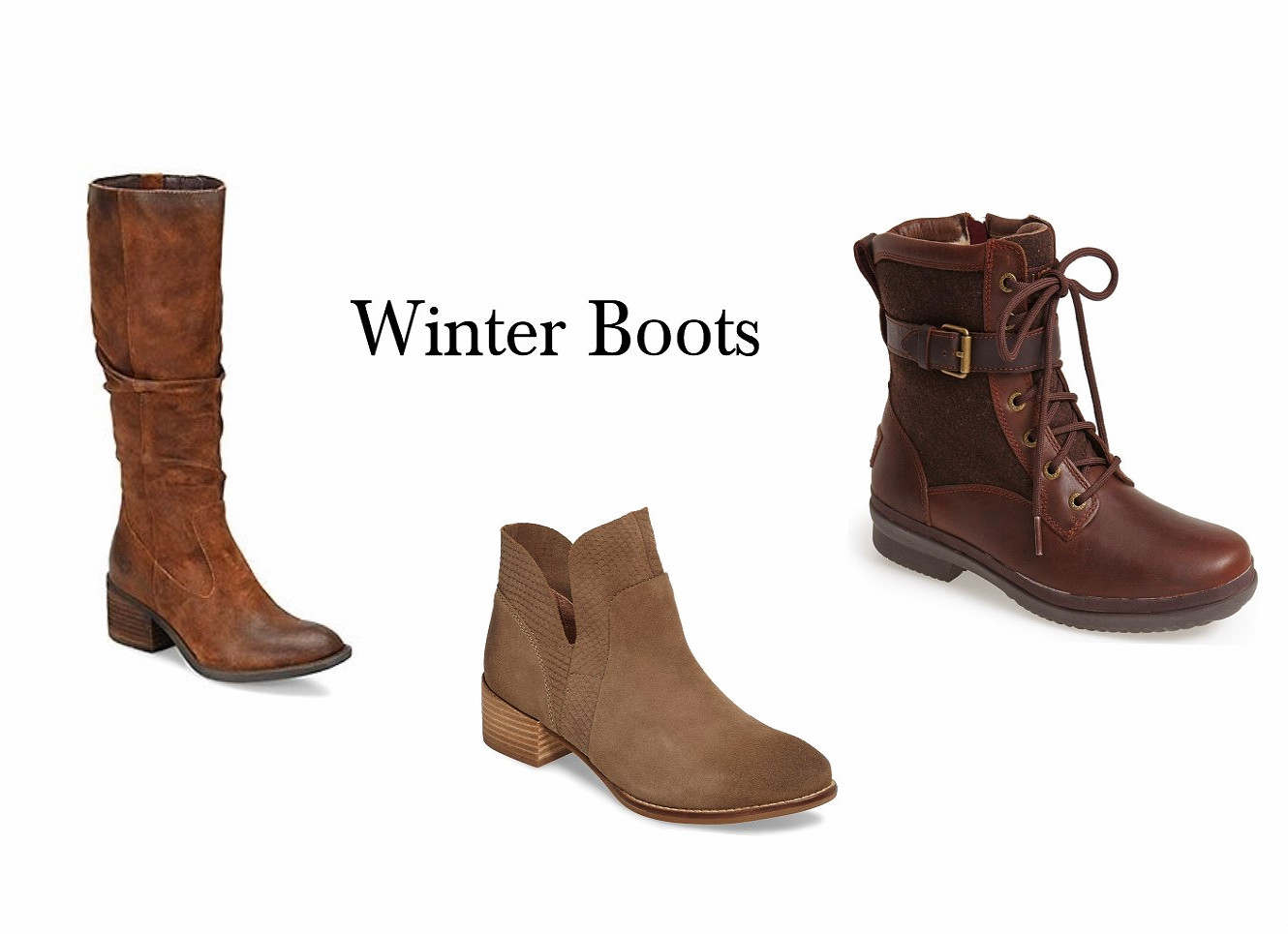 3 Winter Boot Styles